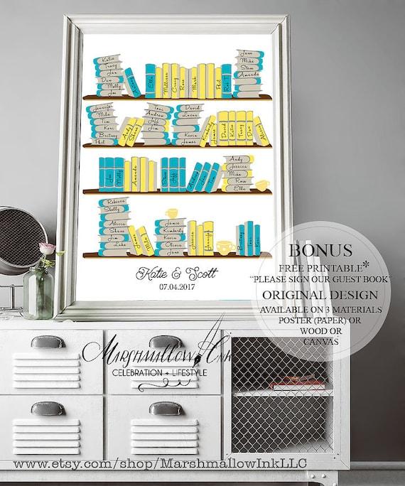 Wedding Guest Book Ideas Library Decor
