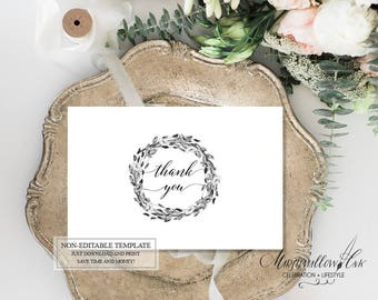 Bridal Shower Printable Thank You Cards, Wedding Thank you Cards DIY Wedding Cards Wedding Gift Thank You Printable Shower Favors Thank you