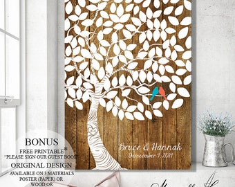 Wedding Guest Book - Wedding Signs - Wedding Guest Book Alternative - Wedding Guestbook - Wedding Tree, Gift Wedding Canvas, Guest Book Tree