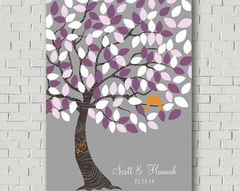 Wedding Guest Book Tree Guest Book Sign, Wedding Tree Canvas Guest Book Tree Signature Tree Keepsake Alternative Guest Book Wedding Poster