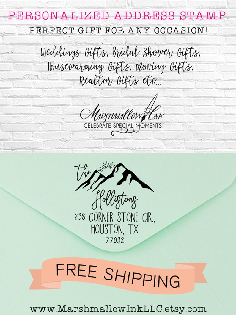 Wedding Stamp Housewarming Gift Return Address
