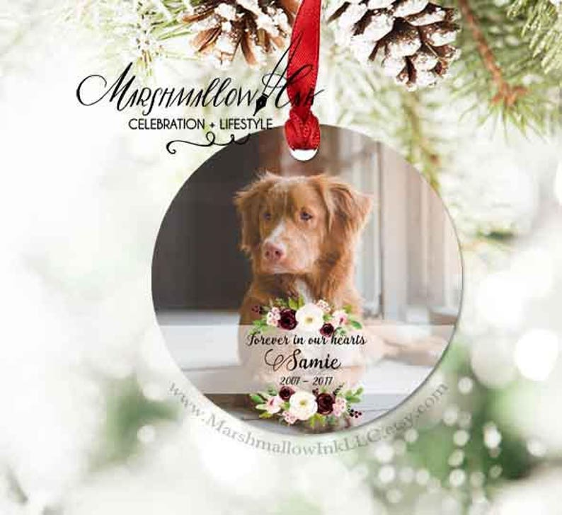 Custom Photo Ornament Dog Memorial Ornament Remembrance Christmas Ornament Memorial Gift Personalized Gift Pet Memorial Ornament