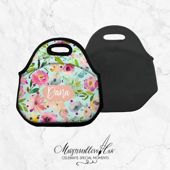 Lunch bag back to school gift Personalized teacher gift Girl   Etsy 7bfd2500e0