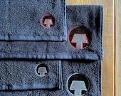 KafaTek Monolith Embroidered Coffee Bar Towels