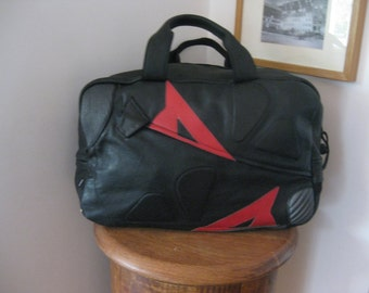 Dainese Bag,Leather Bag,leather overnight bag, Leather holdall,weekender bag, leather weekender bag ,Overnight Bag