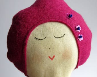 contemporary doll - textile doll - Soft doll - rag doll - fabric doll - uk seller -handmade doll - gift for a girl -cloth doll - childs doll