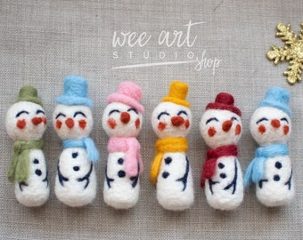 Felted snowman , ready to shipping , uk free shipping