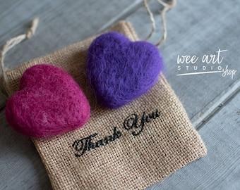Tiny purple hearts, set 2
