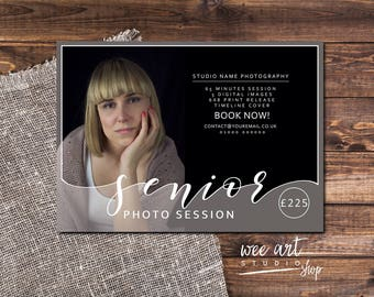 Senior Portrait Photo Session / mini session template for Photographers 7x5