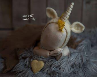 Unicorn felted bonnet