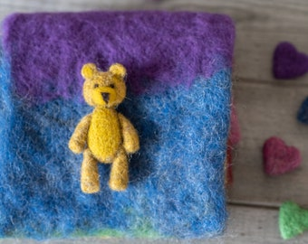 Felted teddy bear, ready to shipping , uk free shipping
