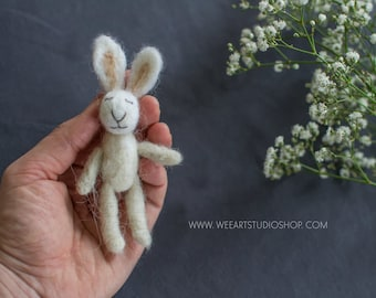 Felted Tiny Rabbit