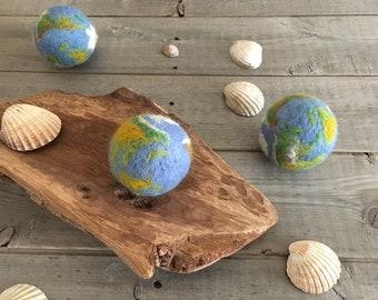 Tiny globe, world , Photography Prop, Tiny globe Needle Felted, newborn props, uk free shipping