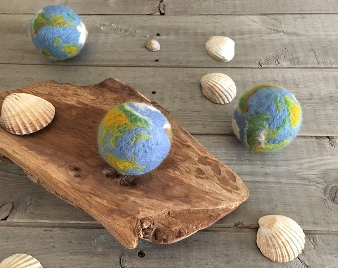 Featured listing image: Tiny globe, world , Photography Prop, Tiny globe Needle Felted, newborn props, uk free shipping