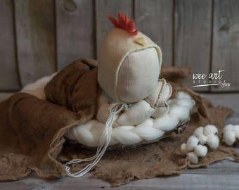 Chicken rooster bonnet