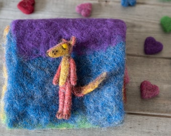 Felted little Fox, ready to shipping , uk free shipping