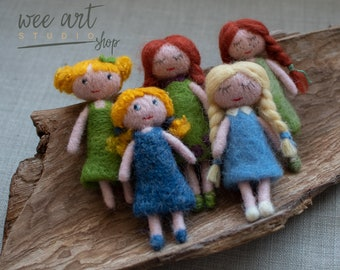 Felted blond doll, ready to shipping , uk free shipping