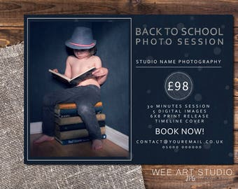 Back to school mini session / photo session template for Photographers