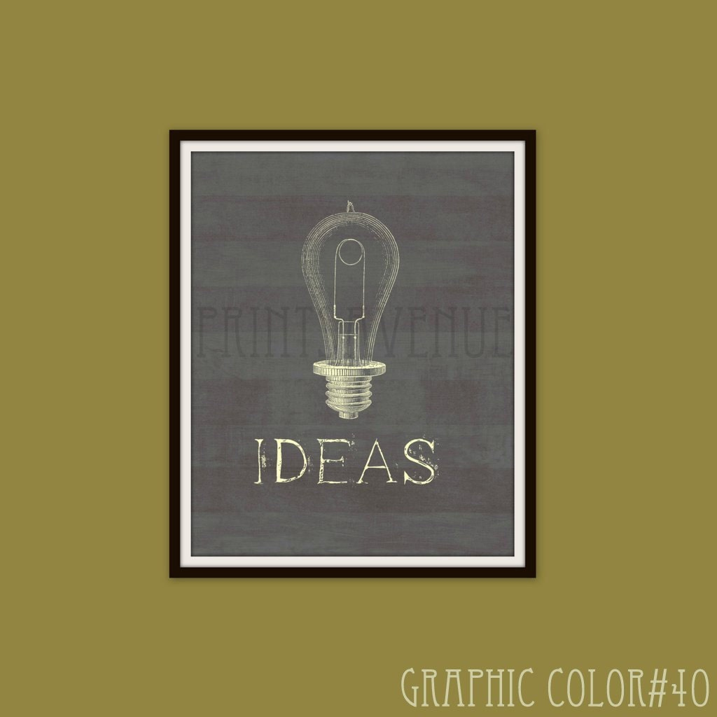 Edison LIGHT BULB Wall Art IDEAS Office Decor Light Bulb Art | Etsy