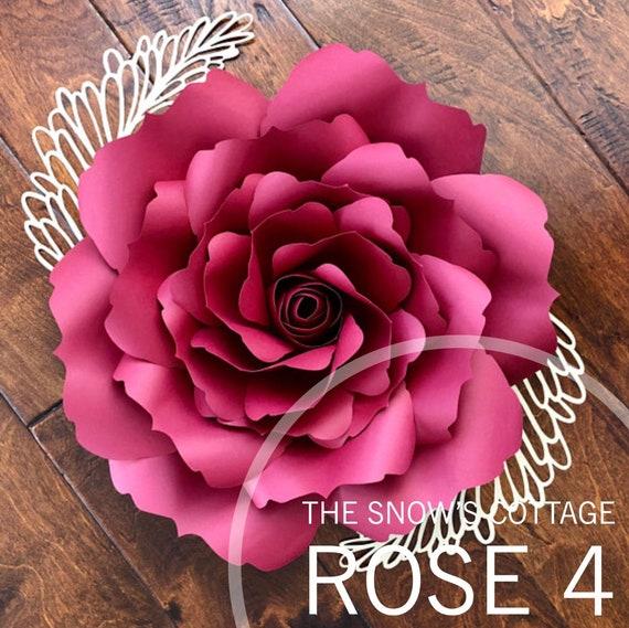 instant download rose 4 pdf large paper flower rose petal