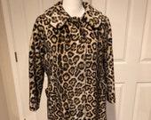 Vintage 1960 39 s Safari by Fairmoor Safari Print Mod Jacket coat 60 39 s Mid Century Moden Cheetah print Mod Coat Faux Fur