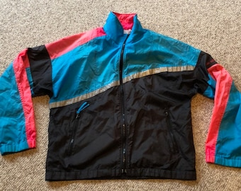 4319f9a61816 Vintage 80 s 90 s USA Olympic Colorblock Neon windbreaker RARE Jacket size  small  Vtg Streetwear colorblock Neon Hip Hop Jacket Hipster jkt