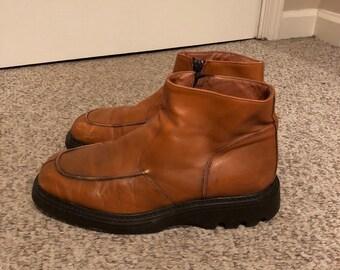 5bd57a30cffee Vintage Aldo Carmel Leather Platform Chukka Boots size 44 Mens 10 Aldo  vintage moon boots