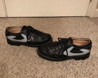 Vintage John Fluevog Black   Blue Angels Seventh Heaven sole lace up loafer  style shoes size 8 men Women 9-10 Rockabilly Rocker Punk Goth cef979fe4