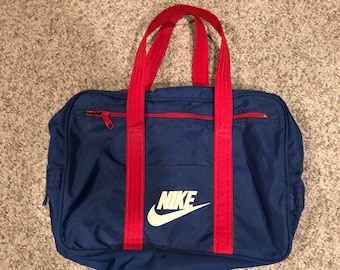 40826f3091fb Vintage 1970 s Nike Navy blue and Red Duffel Gym Bag  Retro True Vintage  Nike Gym Bag