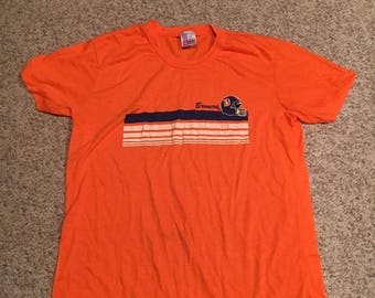 Broncos Shirt Orange Etsy