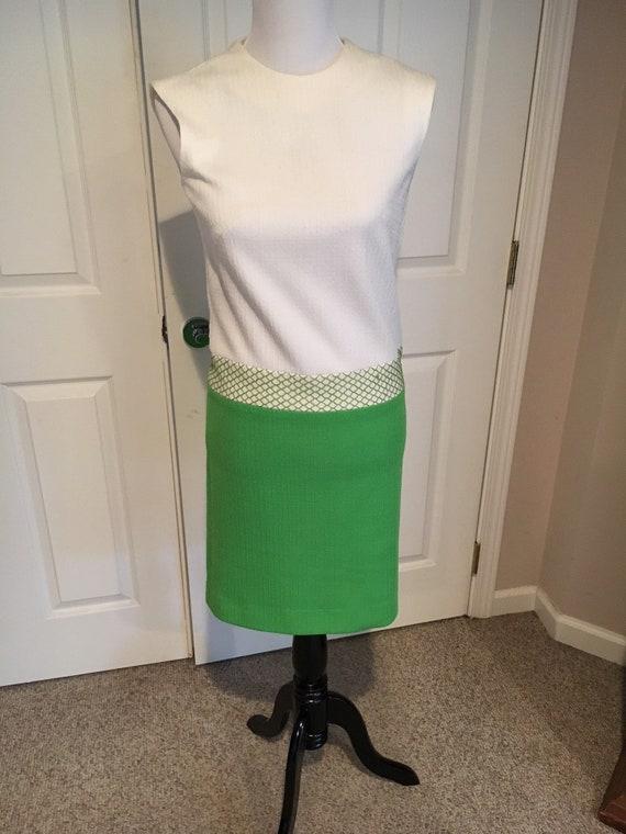 1960's Dress by Norman Wiatt Kelly Green Mad Men S