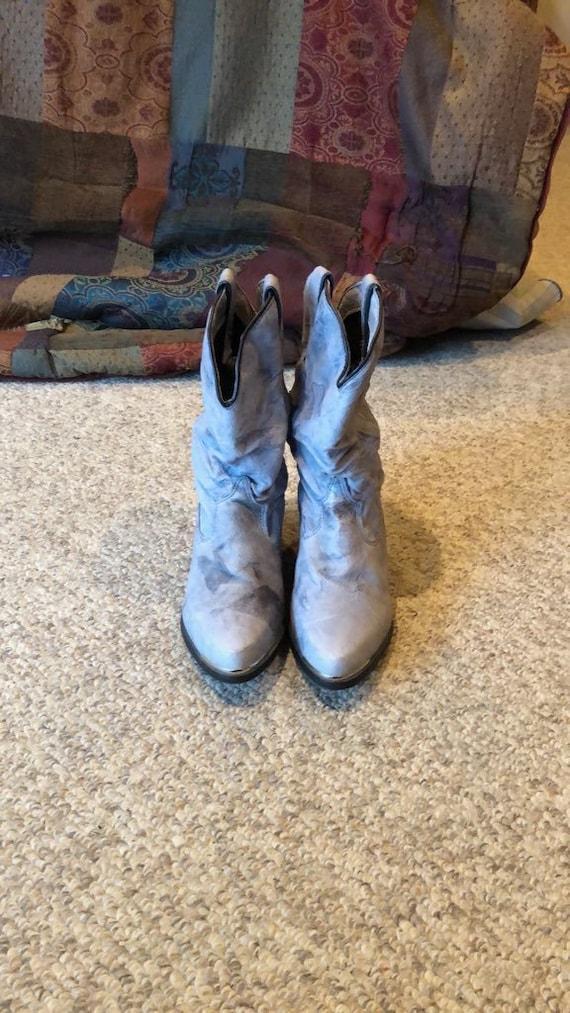 Vintage Capezio grey blue Western slouch cowgirl b