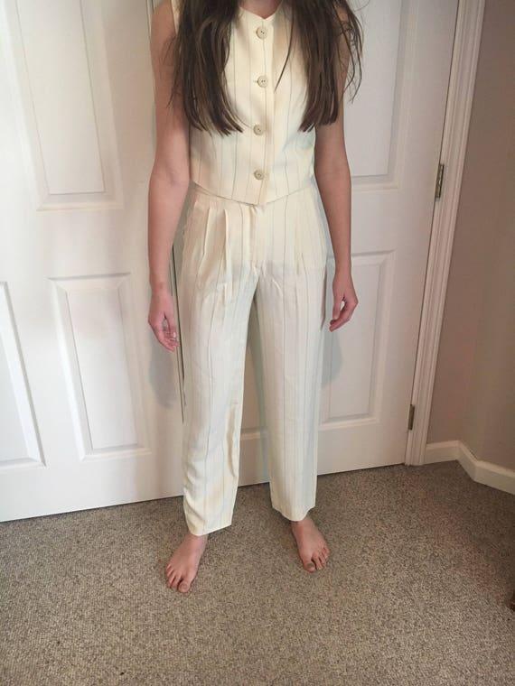 Vintage Krizia High Waist Trousers Pleated Pants P