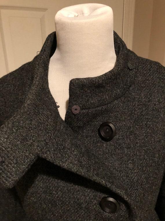 Vintage 1960's Mod Grey Tweed wool Fur trim Princ… - image 2