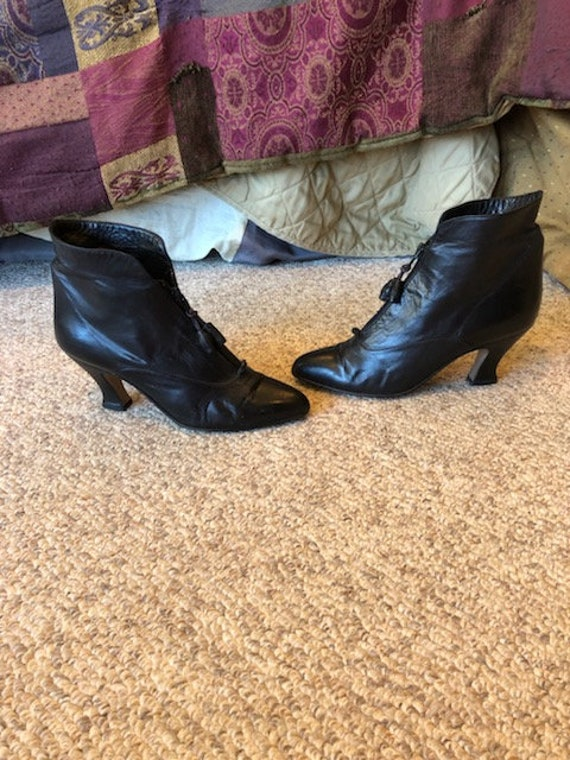 Vintage Nordstrom Town Square Black butter leather