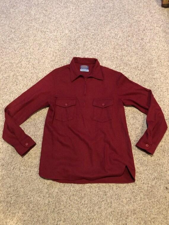 Vintage 60's 70's Pendleton 1/4 zip Wool Warm Hunt