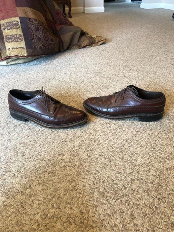 Vintage Imperial Florsheim Brown Leather Wingtip B