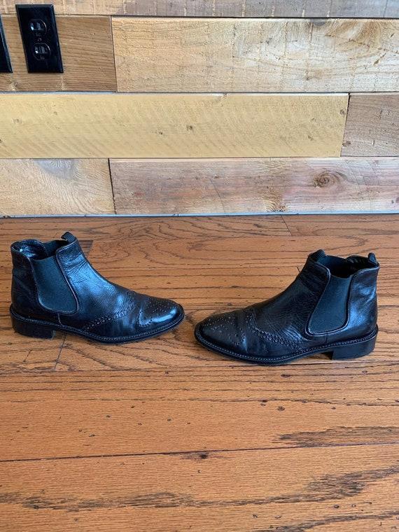 Vintage Joan & David Circa Designer Ankle Wing Tip