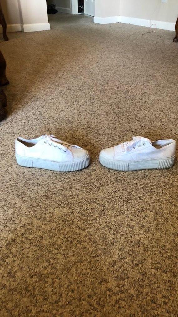 white platform shoes 90s