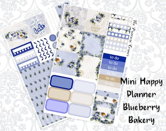 Mini Happy Planner Weekly Kit - Blueberry Bakery
