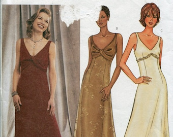 9c2dd0533b Evening Gown Dress Pattern Party Dress Sewing Patterns Butterick 3451  Halter Dress Pattern Size 14-16
