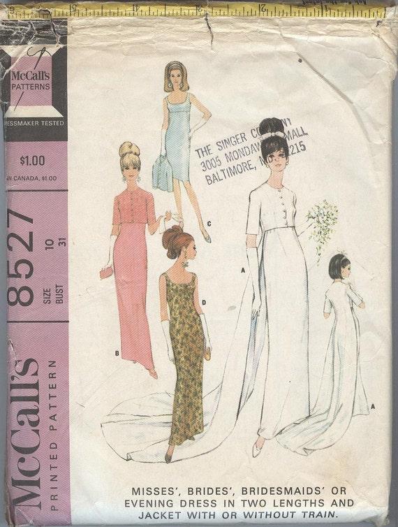 1960er Jahre Hochzeit Kleid Schnittmuster McCalls 8527 | Etsy