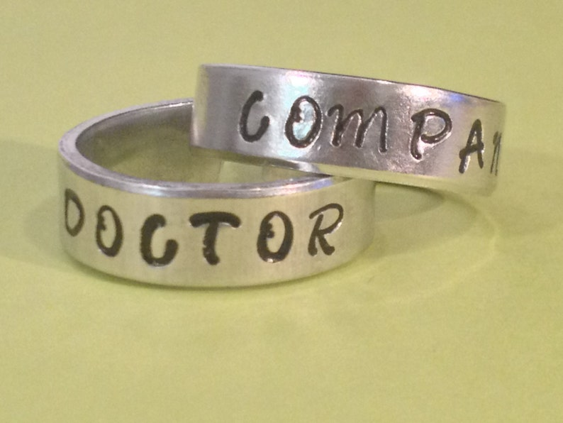 Doctor Companion Rings Set | Etsy