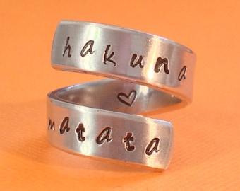 Hakuna Matata, Wrap Ring, Lion King Inspired
