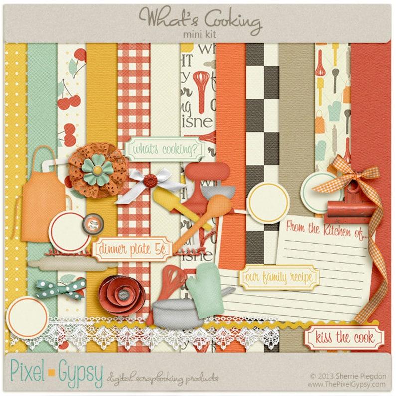 What's Cooking Digital Mini  Digital Scrapbooking Mini image 0