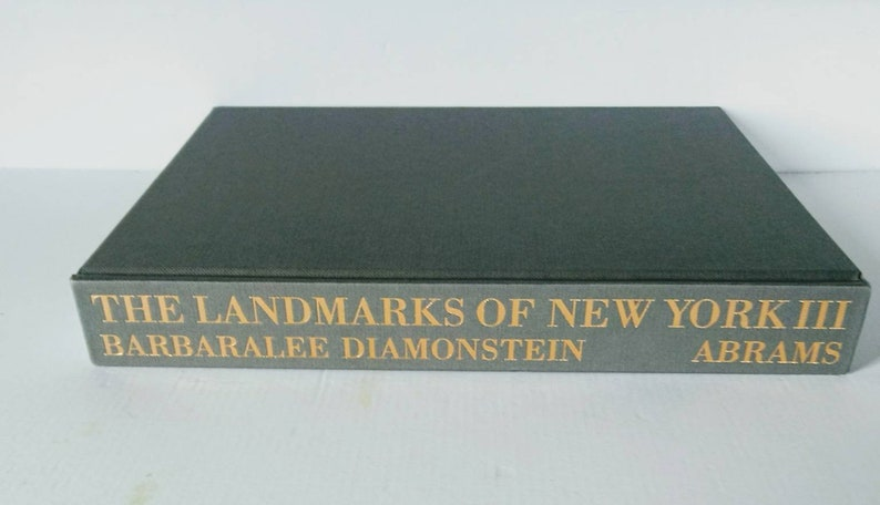 Gray Coffee Table Book The Landmarks Of New York Table Top Etsy