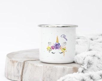 Enamel Mug - Little Unicorn - Watercolour - 099