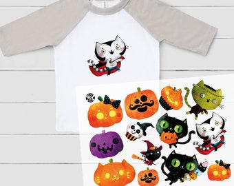 Uncle Bo's Ironing Pictures - Immortal Animals - Halloween - DIN A4