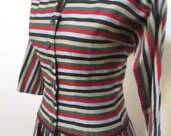 Vintage 1950s  Day Dress, Medium, 36 Bust, VLV Pat Hartly Bombshell, 1950s dress, 50s dress, vintage dress