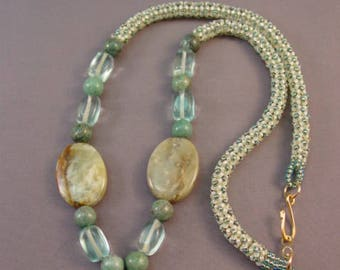 Beaded Necklace Pattern Tutorial - Center Focal Chenille Stitch